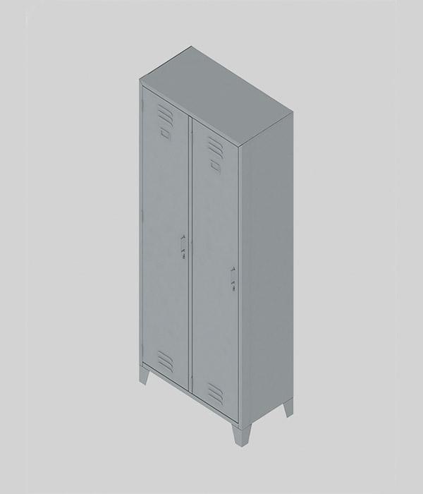 locker de 2 cuerpos y 2 casilleros